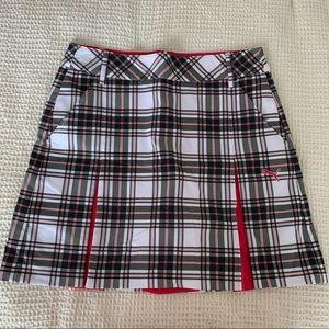 Puma plaid golf skirt